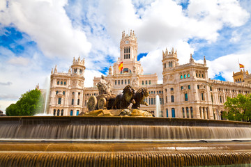 Plaza de Cibeles with Madrid City Hall, Spain