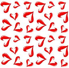 Seamless lips pattern on a white background.