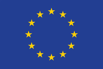 Vector of amazing European Union flag.