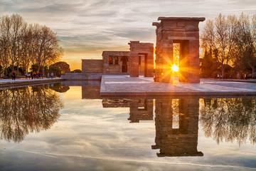 Templo de Debod Madrid España Atardecer