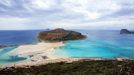 Panoramic view of Balos Beach, Crete Island, 4K UHD