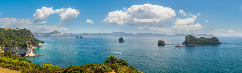 Te Whanganui-A-Hei (Cathedral Cove) Marine Reserve in Coromandel Peninsula North Island, New Zealand.