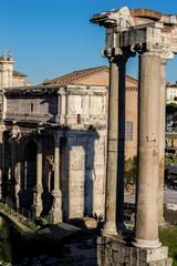 Roman forum from the Campidoglio.