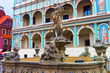 Fountain of Proserpina on Market Square of Poznan