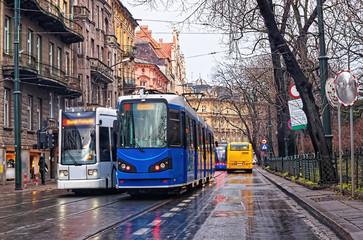 Prowadzenie tramwajów w centrum Krakowa