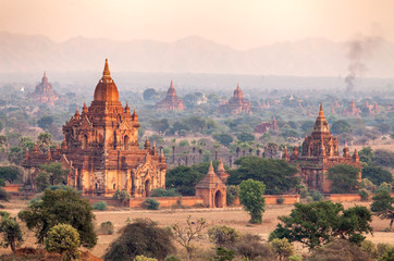 landscape of Pagodas in Bagan, Myanmar (Burma)