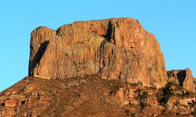 Felsen im Sonnenuntergang / Casa Grande im Big Bend Nationalpark