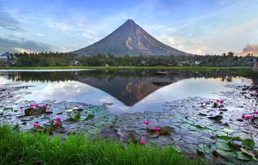 Mayon volcano at early morning,Philippines