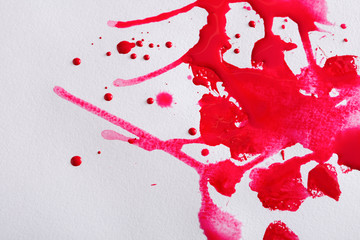Abstract watercolor paint splash on paper texture