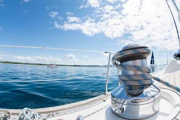 Winsch am Segelboot