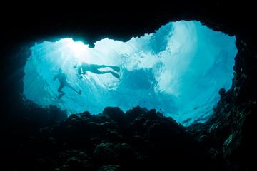 Snorkelers Exploring Blue Hole