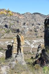 Stony desert landscape on Madagascar