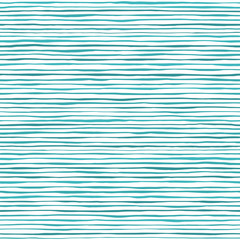 Waves seamless pattern. Hand drawn lines abstract background. Blue stripes texture. Sketch vector illustration