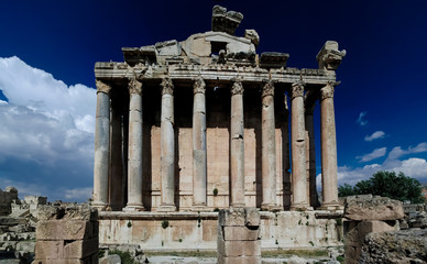 Ruins of Bacchus temple in Baalbek, Bekaa valley, Lebanon
