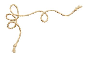 Twisted beige cotton rope corner