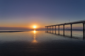 Sunrise at New Brighton in Christchurch, New Zealand