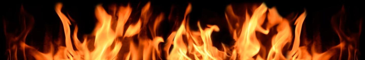 Flammen Hintergrund Rand-Element