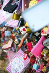Love Locks in Seoul Korea