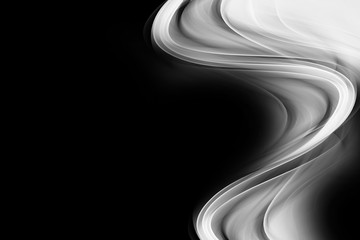 Streszczenie czarne białe fale wzór tła