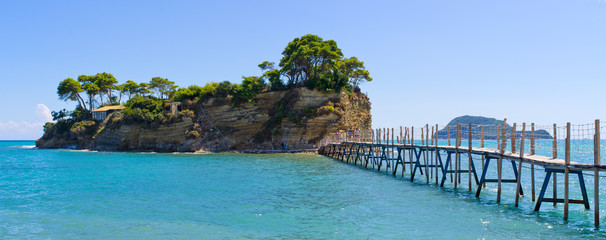 Cameo island with famous beach, Zakynthos, Greece
