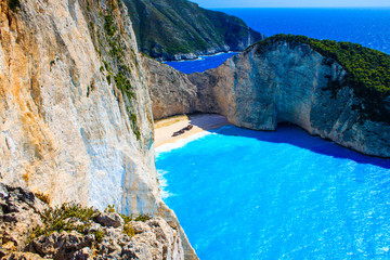 Zakynthos Island - Navagio beach and the shipwreck view from the hill