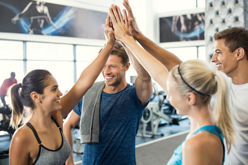 High five at gym