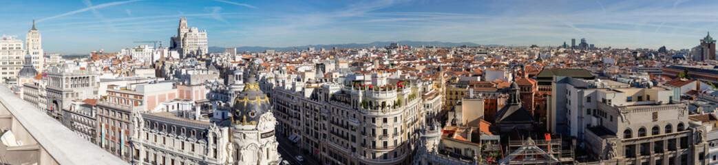 Przegląd dachów Madrytu