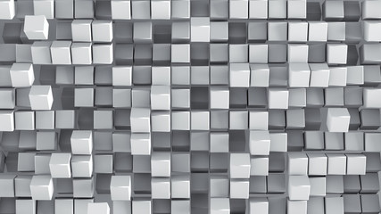 White cubes 3D render background