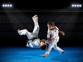 Little children martial arts fighters