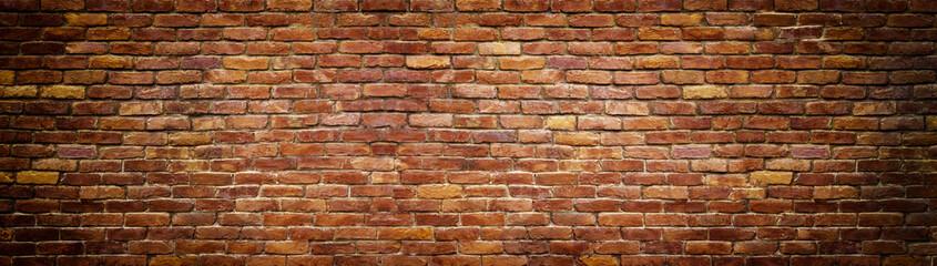 panoramiczny widok muru, ceglany mur jako tło