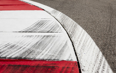 tyres mark on the racetrack