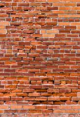 Distressed Red Brick Wall