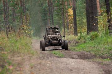Buggy car in dirt