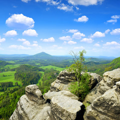 Beautiful landscape in Czech-Saxony Switzerland.