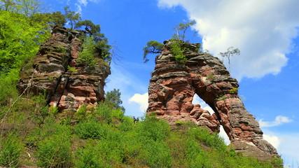 Schillerfelsen auf Dahner Felsenpfad in der Pfalz