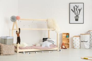 Cozy baby room in nordic design