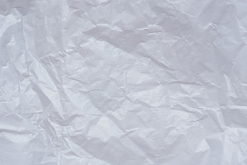 Blank crumpled white paper texture