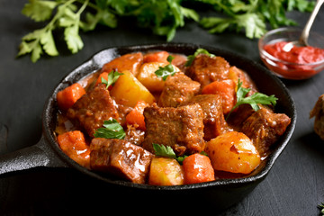 Stewed beef and vegetables