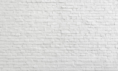 White old brick wall urban Background.