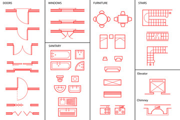 Set of Architectural Symbols