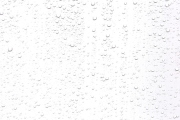 Abstract water droplets isolated background with white background.
