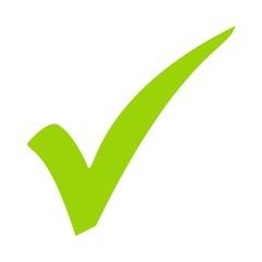 Häkchen Symbol grün