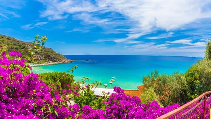 Cavoli beach and coast, Elba island, Tuscany, Italy.