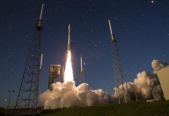 Spaceshatle launch rocket isolated