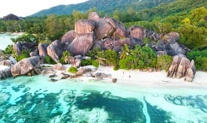 Küste am Seychellenstrand