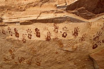 Pictographs of Hands, Natural Bridges National Monument, UT
