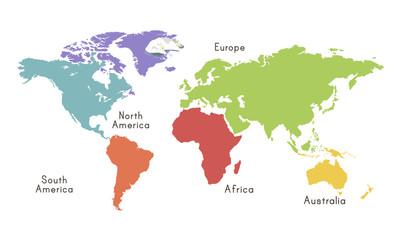 Mapa świata kontynent lokalizacji graficzny ilustracja