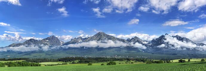 High Tatras mountains - panorama.