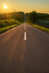 就実の丘 ジェットコースターの道