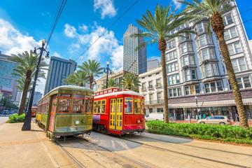 New Orleans, Louisiana, USA streetcars